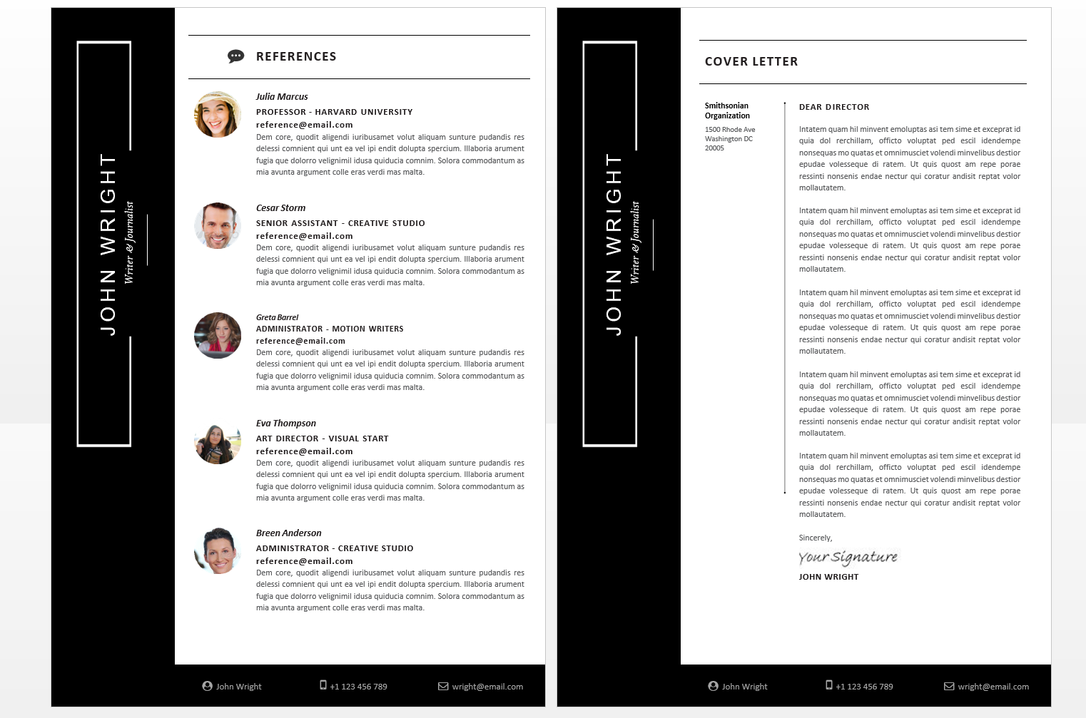 microsoft office resumes john wright resume template with sidebar